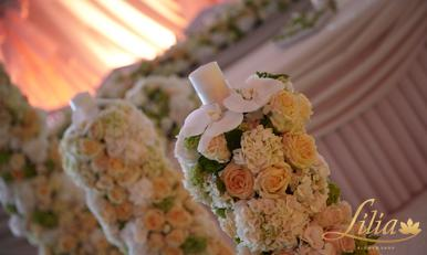 Wedding decoration in delicate colors